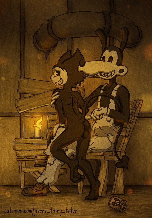 and fanart bendy ink the bendy machine Touch the cow do it now
