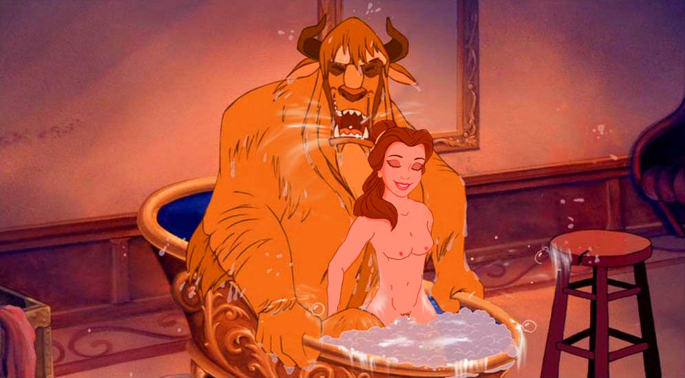nude beast the and beauty belle Demon girl and angel boy