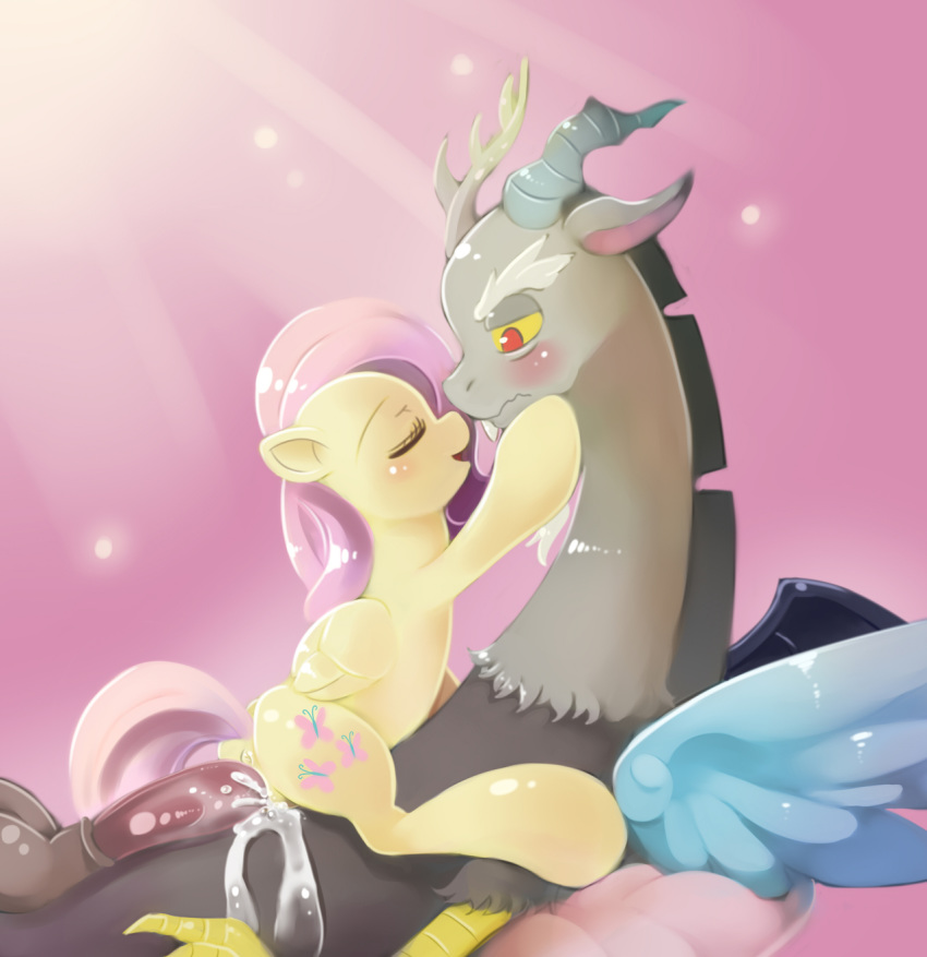 fanart mlp discord and fluttershy Teen titans go raven naked